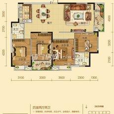 桂花城三期B12户型 户型图