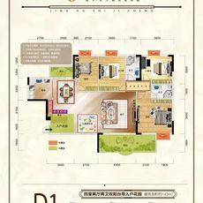 璟湖世纪城D1 16层小高层户型图