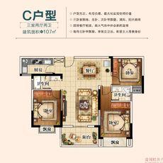 三胜·首府C户型户型图