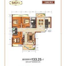 咸宁·仕中心6#D1户型户型图
