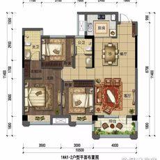 哈佛城1#A1-2户型图