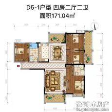 佳辰国际·中央城D5-1户型图