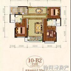 海德公馆10-B2户型图