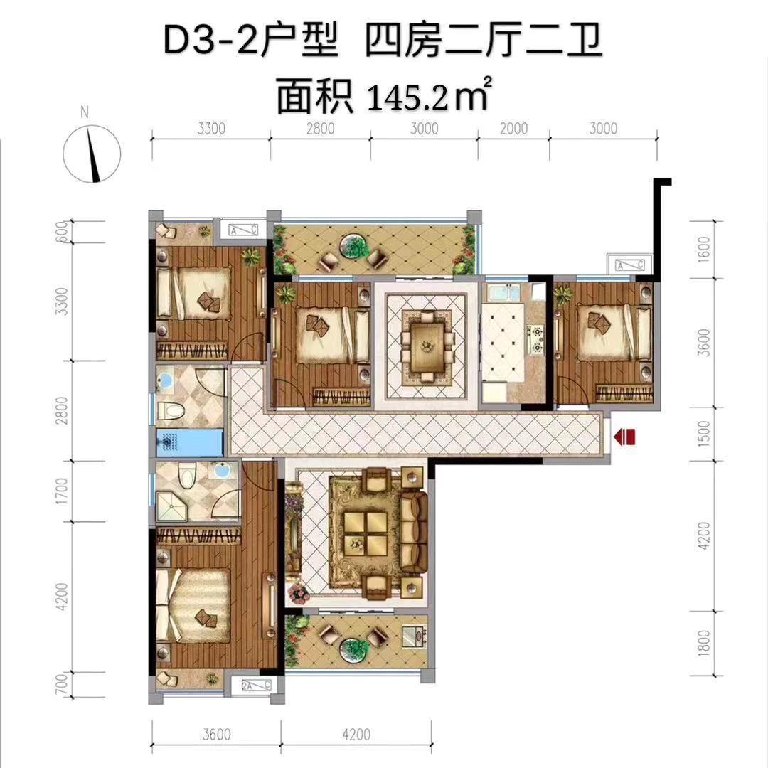 中央城三期-D3-2户型